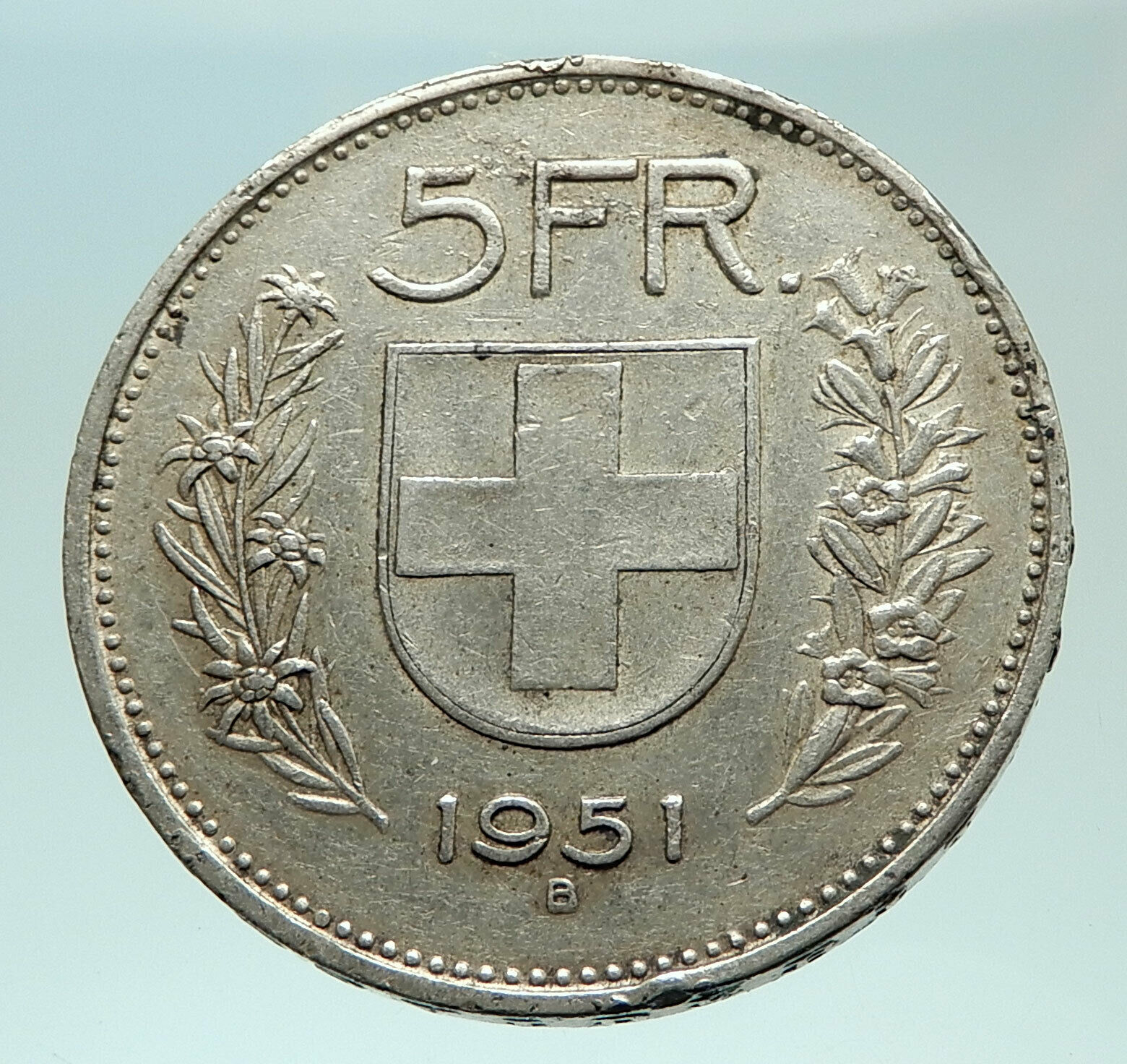 1951 Switzerland Founding HERO WILLIAM TELL 5 Francs Silver Swiss Coin i75957 2