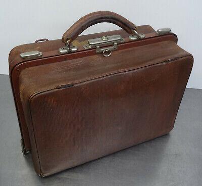 Antike Hebamme Doktor Koffertasche Koffer Arzt Leder Tasche 4