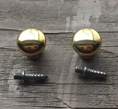 """5/8"""" Brass Round Knobs Pulls Handles Stacking Barrister Cabinet BookCase Drawer 5"""
