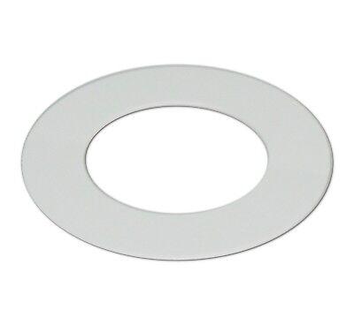 Matt White Downlight Spotlight Surround Bezel Converter White Acrylic Ring