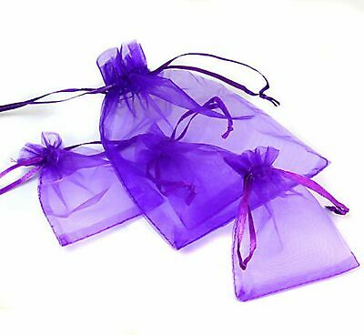 100 Luxury Organza Gift Bags Wedding Favour Chrisamas Jewellery Candy Pouches 8