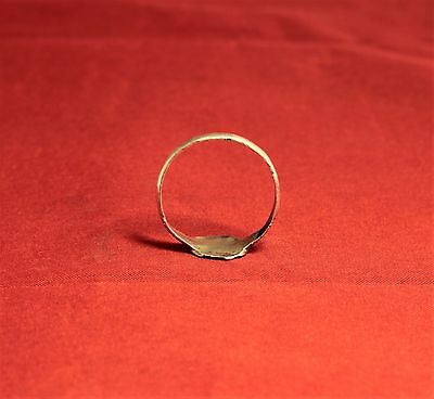 Medieval Knight's Silver Seal Ring - Lily Seal, 12. Century, Silver Inlay, Rare 7