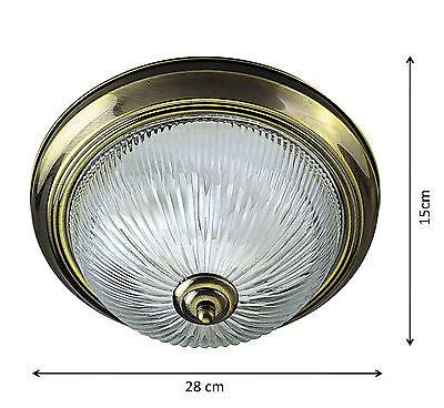 Deckenleuchte geripptes glas deckenlampe lampe leuchte for Deckenleuchte ausgefallen