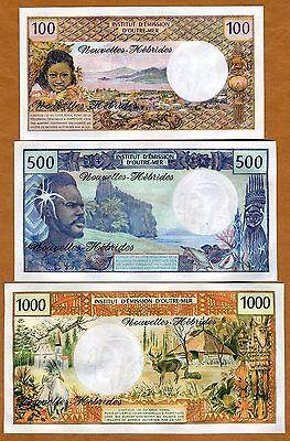 ND 1977 UNC 100 Francs now Vanuatu Pick 18d New Hebrides French Colonial
