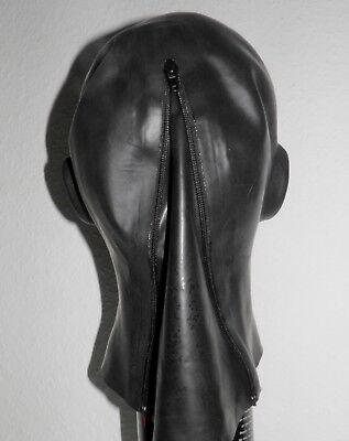 Latexmaske Kopf Voll-Maske anatomisch mit Mundauskleidung und Nasenschläuchen 7