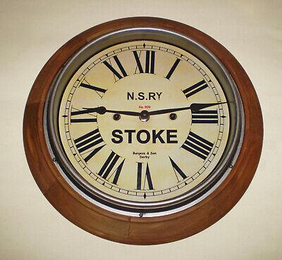 Custom Railway Clock, Victorian Wooden Clock, Bespoke Dial Made to Order. 3