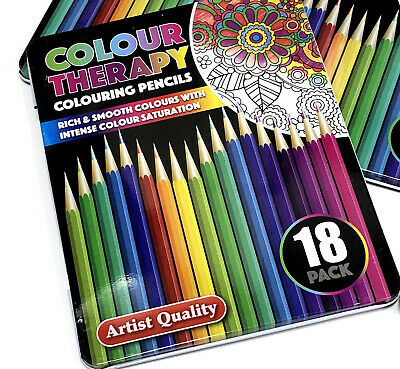 10 18 30 Premium Adult Colouring Pencils  Artists Quality Colour Therapy in Tin 6