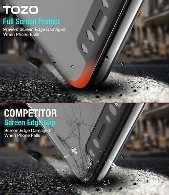 For Apple iPhone X XS Full Coverage Soft Edge 9H Tempered Glass Screen Protector 4