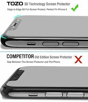 For Apple iPhone X XS Full Coverage Soft Edge 9H Tempered Glass Screen Protector 5