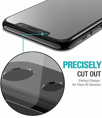 For Apple iPhone X XS Full Coverage Soft Edge 9H Tempered Glass Screen Protector 3