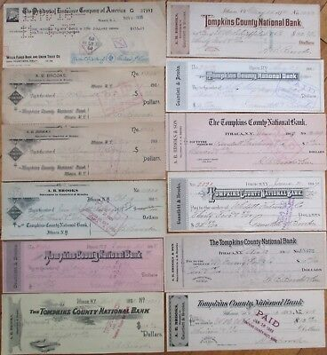 Antique Checks, 100+ DIFFERENT QUALITY- ALL Pictured, Most 1870-1910, All Issued 4