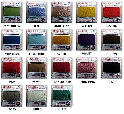 Griffin 100% Silk Cord Bead String Thread  #0-1-2-3-4-5-6-7