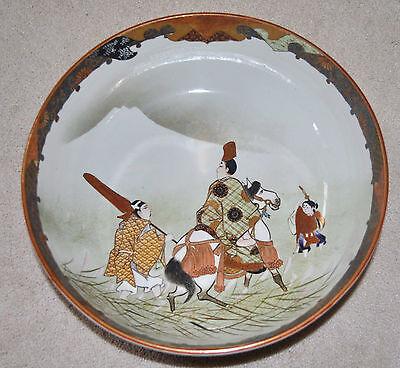 Superb Set of 3 Large Kutani Graduated Porcelain Bowls Hand Painted Meiji Period 5