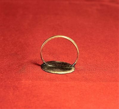 Fine Medieval Crusader Knigth's Seal Ring,  Lily Stamp, 11. Century, 4