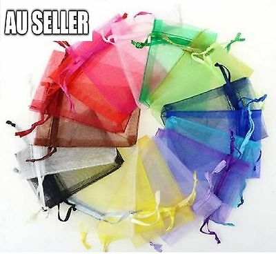 50/100 Organza Wedding Xmas Party Favor Gift Candy Bags Jewellery Packing Pouch 9