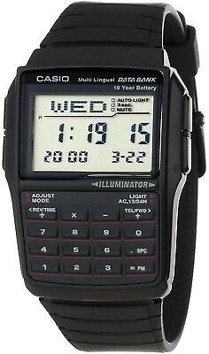 Casio DBC32-1A 25 Page Databank Watch Calculator Illuminator Resin BRAND NEW 3