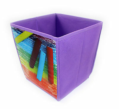 Cube Shaped Waste Paper Bin, 3 Fun Designs, Bedroom, Playroom, Office, Storage