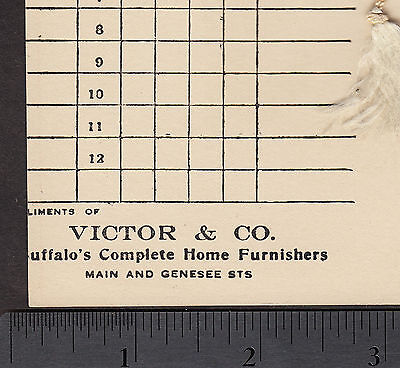 c 1916 Antique Pathephone Victor Buffalo NY Progressive Pedro Advertising Card