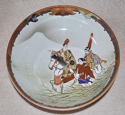 Superb Set of 3 Large Kutani Graduated Porcelain Bowls Hand Painted Meiji Period 7