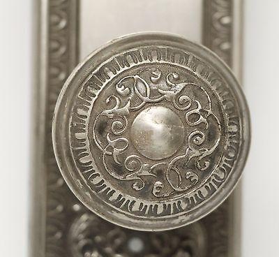 Single Ornate Knob With Matching Plate 4