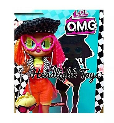 "1 LOL Surprise OMG NEONLICIOUS 10"" Fashion Doll Neon QT Holiday Winter Disco 9"