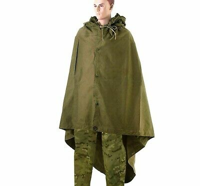 Russian USSR Cape Cloak Tent Military Field Canvas Army Poncho ПЛАЩ-ПАЛАТКА 2