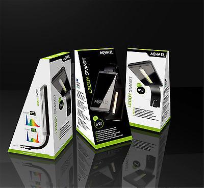 Aquael LEDDY Smart weiss 6W LED Beleuchtung Aquarium Nano Shrimp Sunny 6500K 4