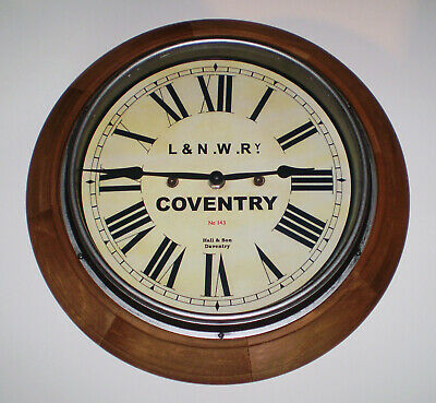 LNWR London & North Western Railway Style Coventry Station / Waiting Room Clock 2