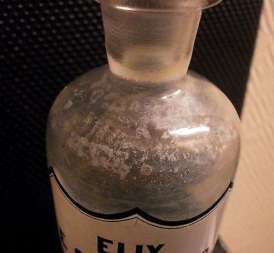 Apotheker Flasche 1860 Elix.E.Succo.Liq.Flasche Glaskunst 12,5 cm Glasflasche
