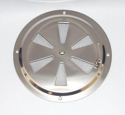 Grille d'aération Ronde Réglable 128mm Avec Moustiquaire inox 316 - A4