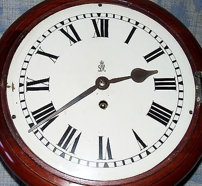 AUTHENTIC Mahogany GPO Chain Fusee Wall Clock with 10 INCH Dial 5 • £845.00