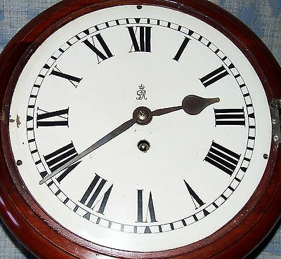AUTHENTIC Mahogany GPO Chain Fusee Wall Clock with 10 INCH Dial 5
