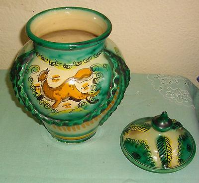 Tarro Grande Con Tapa,  Ceramica De Toledo, Con Firma, 28 Cms Alt, X 17 Cm Ancho 2