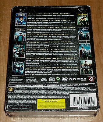Harry Potter Coleccion Completa 1-8 Dvd Caja Metalica Jumbo Nuevo Precintado R2 2