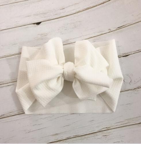 Handmade Baby Girls Large Bow Headband Infant Toddler Knot Hair Band Head Wrap 9