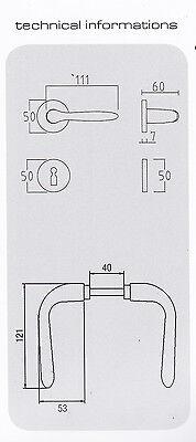 Maniglia Texas Brialma in alluminio anodizzato Bronzo con rosetta patent