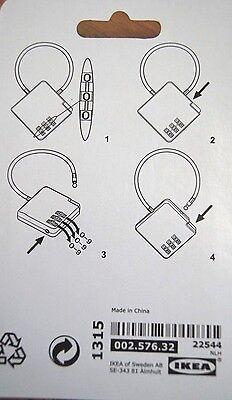IKEA Zahlenschloss Vorhängeschloss Schloss Schrankschloss in ROSA  *NEU+OVP*