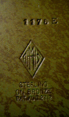 Antique Heintz Bronze Sterling Arts Crafts Picture Photo Art Frame Holder Rack 5