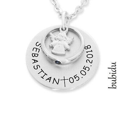 Geschenk Zur Taufe Taufe Namenskette Silber Taufring Kette