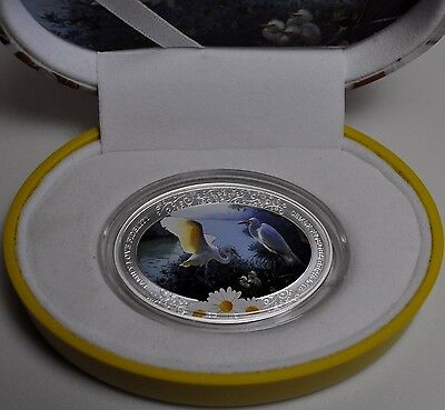 Niue 2011 $2 Family Love Fidelity The Stork 1 Oz Silver Proof Coin