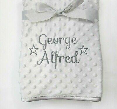 Personalised Baby Boy Girl Gender Neutral Blanket, Custom Embroidered Gift,Stars 2