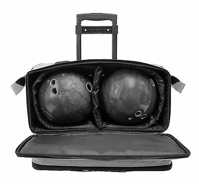 9af401fa5d ... KAZE SPORTS 4 Ball Double Decker Bowling Bag Roller Tote with Smooth PU  Wheels 7