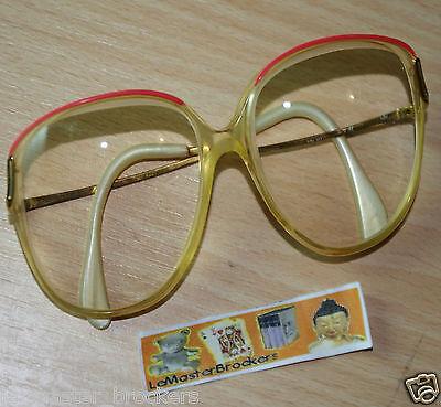 14d36ebdc5 ... Ancienne monture lunettes vue optique plastique métal vintage (liseret  rouge) 2