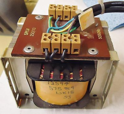SPLV 250/110 TRANSFORMER 50/60 Hz. #12594 57589 WK18 53 FOR QUAD 841C SOLDER REF 2