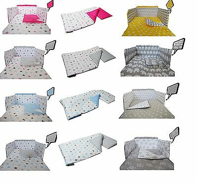 Teddy Pattern Baby Bedding Set Fit Cot 120x60cm Or Cot Bed 140x70