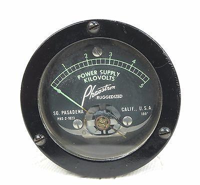 "Phaostron Ruggedized ITT  2.5"" Panel Mount 5KV AC Power Supply 3KV DC Voltmeter 3"