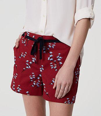 Ann Taylor LOFT Crepe Pull On Shorts Size X-Large Vibrant Olive Color