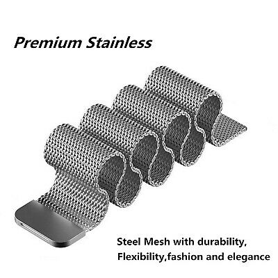 For Apple Watch Series 4 40mm 44mm Magnetic Milanese Loop Band Stainless Steel 6