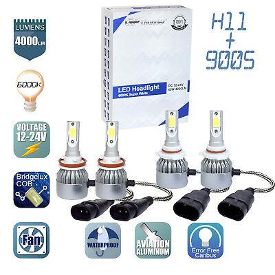 LED Headlight Bulb Fog Light Kit H11 6000k White For 2008-2018 Toyota Highlander