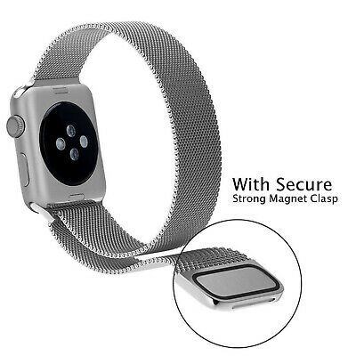For Apple Watch Series 5 4 40mm 44mm Magnetic Milanese Loop Band Stainless Steel 8